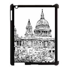 Line Art Architecture Church Apple Ipad 3/4 Case (black)