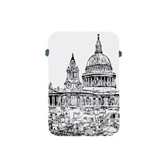 Line Art Architecture Church Apple Ipad Mini Protective Soft Cases by Samandel