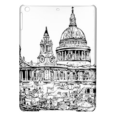 Line Art Architecture Church Ipad Air Hardshell Cases by Samandel