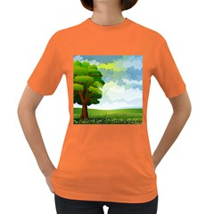 Landscape Nature Natural Sky Women s Dark T Shirt