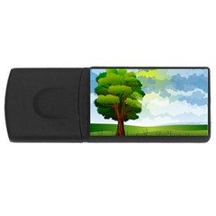 Landscape Nature Natural Sky Rectangular Usb Flash Drive