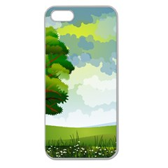 Landscape Nature Natural Sky Apple Seamless Iphone 5 Case (clear)