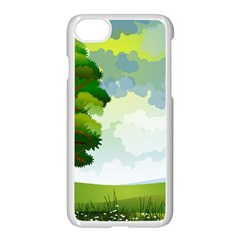 Landscape Nature Natural Sky Apple Iphone 7 Seamless Case (white)
