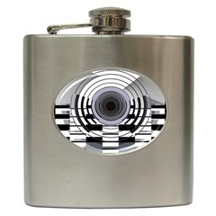 Glass Illustration Technology Hip Flask (6 Oz)