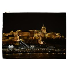 Budapest Buda Castle Building Scape Cosmetic Bag (xxl)