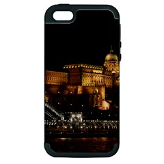 Budapest Buda Castle Building Scape Apple Iphone 5 Hardshell Case (pc+silicone)