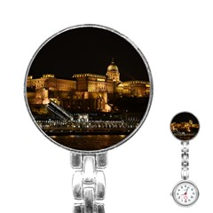 Budapest Buda Castle Building Scape Stainless Steel Nurses Watch