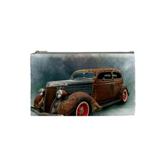 Auto Old Car Automotive Retro Cosmetic Bag (small) by Samandel