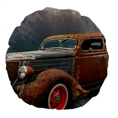 Auto Old Car Automotive Retro Large 18  Premium Round Cushions by Samandel