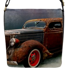 Auto Old Car Automotive Retro Flap Closure Messenger Bag (s)