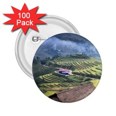 Rock Scenery The H Mong People Home 2 25  Buttons (100 Pack)  by Samandel
