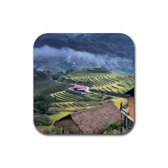 Rock Scenery The H Mong People Home Rubber Coaster (square)