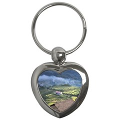 Rock Scenery The H Mong People Home Key Chains (heart)