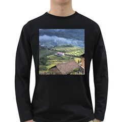 Rock Scenery The H Mong People Home Long Sleeve Dark T Shirt