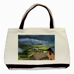 Rock Scenery The H Mong People Home Basic Tote Bag (two Sides)