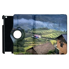 Rock Scenery The H Mong People Home Apple Ipad 2 Flip 360 Case by Samandel