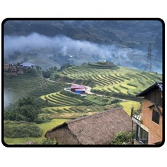 Rock Scenery The H Mong People Home Double Sided Fleece Blanket (medium)  by Samandel