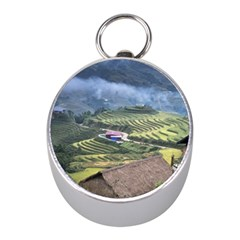 Rock Scenery The H Mong People Home Mini Silver Compasses