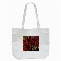 Autumn Colorful Nature Trees Tote Bag (white) by Samandel