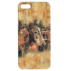 Head Horse Animal Vintage Apple Iphone 5 Hardshell Case With Stand