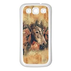 Head Horse Animal Vintage Samsung Galaxy S3 Back Case (white)
