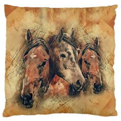 Head Horse Animal Vintage Standard Flano Cushion Case (one Side)