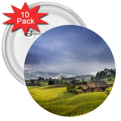 Vietnam Terraces Rice Silk 3  Buttons (10 Pack)
