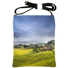 Vietnam Terraces Rice Silk Shoulder Sling Bag