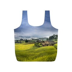 Vietnam Terraces Rice Silk Full Print Recycle Bag (s)