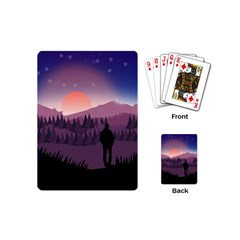Dusk Sunset Dawn Sky Evening Playing Cards (mini) by Samandel