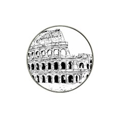 Line Art Architecture Hat Clip Ball Marker (4 Pack)