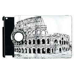 Line Art Architecture Apple Ipad 3/4 Flip 360 Case