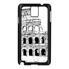 Line Art Architecture Samsung Galaxy Note 3 N9005 Case (black)