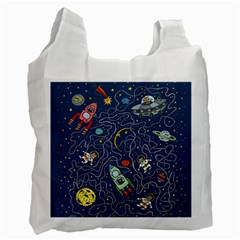 Cat Cosmos Cosmonaut Rocket Recycle Bag (one Side) by Samandel