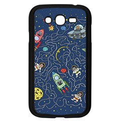 Cat Cosmos Cosmonaut Rocket Samsung Galaxy Grand Duos I9082 Case (black) by Samandel