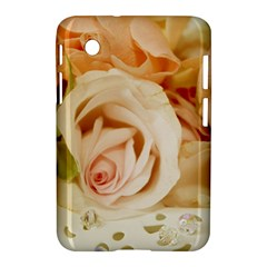 Roses Plate Romantic Blossom Bloom Samsung Galaxy Tab 2 (7 ) P3100 Hardshell Case