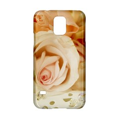 Roses Plate Romantic Blossom Bloom Samsung Galaxy S5 Hardshell Case  by Samandel
