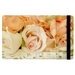Roses Plate Romantic Blossom Bloom Apple Ipad Pro 9 7   Flip Case