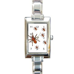 Nature Insect Natural Wildlife Rectangle Italian Charm Watch