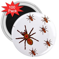 Nature Insect Natural Wildlife 3  Magnets (100 Pack)