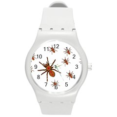 Nature Insect Natural Wildlife Round Plastic Sport Watch (m)
