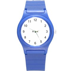 Abstract Painting Round Plastic Sport Watch (s) by Sapixe