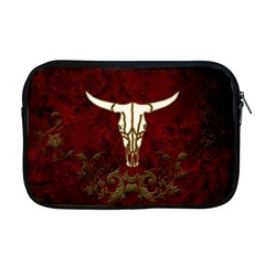 Awesome Cow Skeleton Apple Macbook Pro 17  Zipper Case by FantasyWorld7
