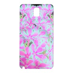 Hot Pink And White Peppermint Twist Flower Petals Samsung Galaxy Note 3 N9005 Hardshell Back Case by myrubiogarden