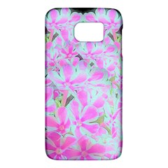Hot Pink And White Peppermint Twist Flower Petals Samsung Galaxy S6 Hardshell Case