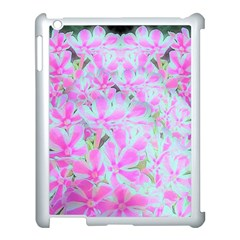 Hot Pink And White Peppermint Twist Flower Petals Apple Ipad 3/4 Case (white) by myrubiogarden