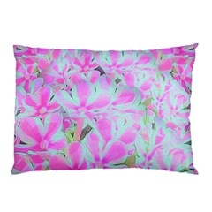 Hot Pink And White Peppermint Twist Flower Petals Pillow Case (two Sides) by myrubiogarden