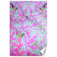 Hot Pink And White Peppermint Twist Flower Petals Canvas 20  X 30