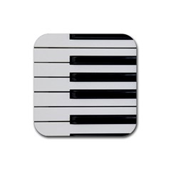 Keybord Piano Rubber Square Coaster (4 Pack)