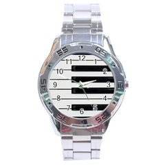 Keybord Piano Stainless Steel Analogue Watch by Samandel